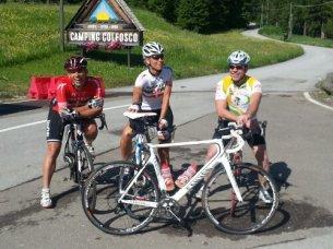 Guido, Birgit, Fitty bei SelaRondaBikeDay 2013
